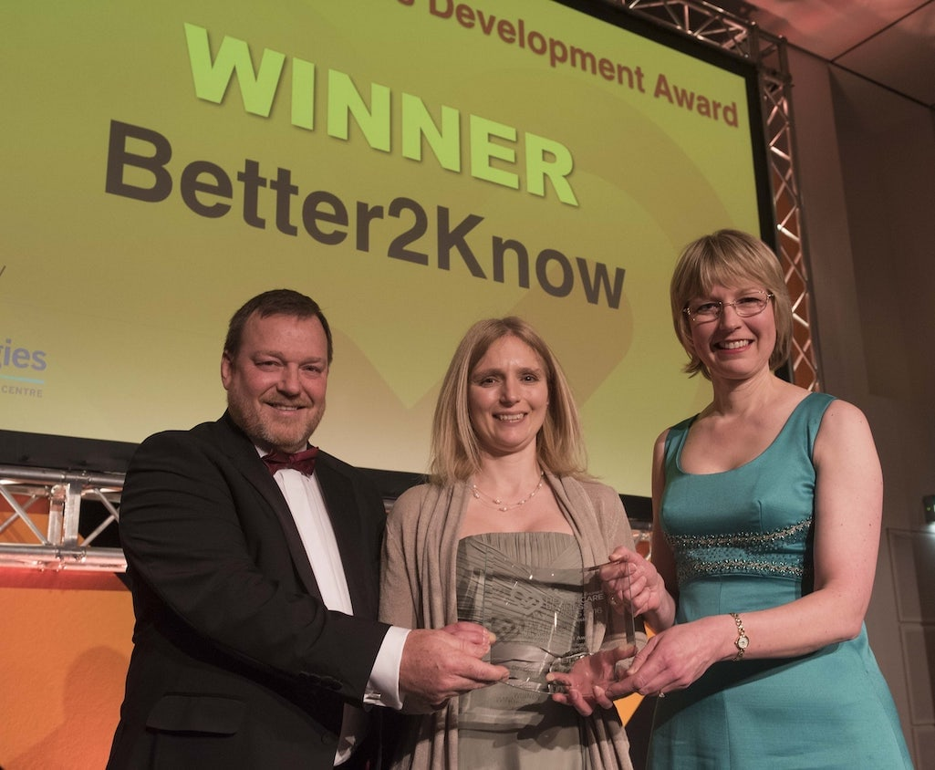 Mike Asher and Anthea Morris win Medilink Skills Development Award
